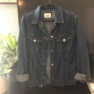 Oversized Dark Wash Denim Jacket